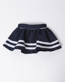 London Hub Fashion Jersey Skirt Navy