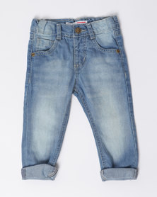 London Hub Fashion Denim Jeans Blue
