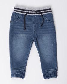 London Hub Fashion Jogger Jeans Blue