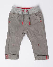 London Hub Fashion Woven Pants Grey
