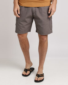 Jeep Elasticated Shorts Bark