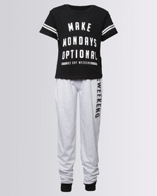 New Look Make Mondays Optional Black