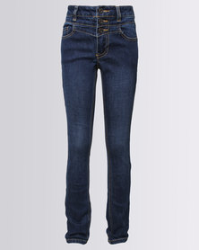 New Look Super High Waist Skinny Jeans Blue