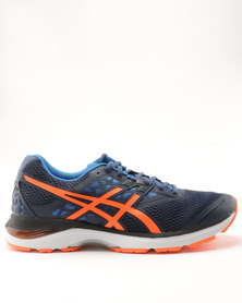 Asics Performance Gel Pulse 9 Sneaker Dark Blue/Shocking Orange