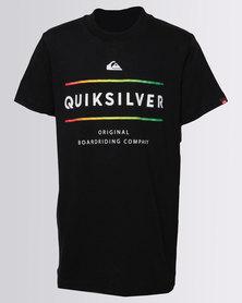 Quiksilver Boys White Mountain T-Shirt Black