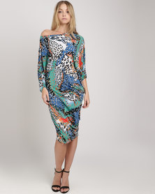 Michelle Ludek Stella Dress Amazon Print Multi