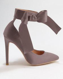 Utopia Satin Pointy Court Shoes Mink