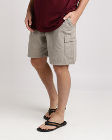 Jeep 21cm Elasticated Shorts Khaki