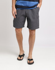 Jeep 21cm Elasticated Shorts Charcoal