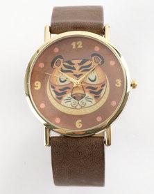 You & I Ta Com Tiger Watch Tan