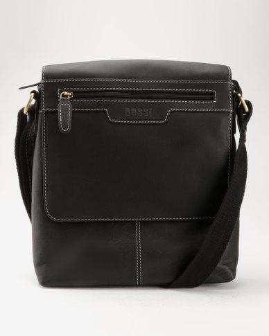 58 Bossi Genuine Leather Crossbody Bag Black