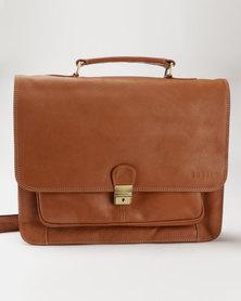 Bossi Genuine Leather Foliobag Tan