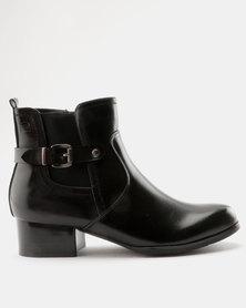 Pierre Cardin Smart Belted Gusset Ankle Boot Black