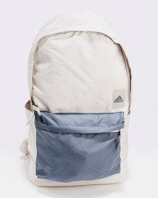 adidas Performance Classic Backpack Medium Pocket Grey & Blue