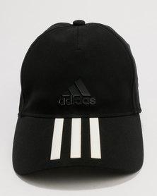 adidas Performance C40 6 Panel 3 Stripes Climacool Cap Black