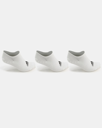 adidas Performance Athletic Invisible 3PP White