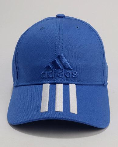 61fb88ef420 adidas Performance 6P 3S Cap Cotto Blue