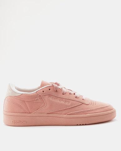 88566c3fc06abe Reebok Club C 85 Nubuck Sneakers Chalk Pink