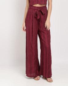 Billabong Midsummer Stripe Pants Berry