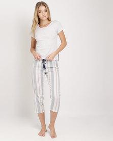 Women'secret Pajama Set Grey