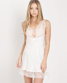Women'secret Night Dress Standard White