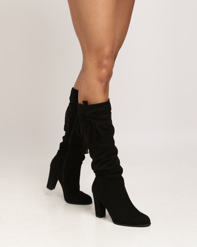 13e0b04fe8c Utopia Shuffle Knee High Boots Black