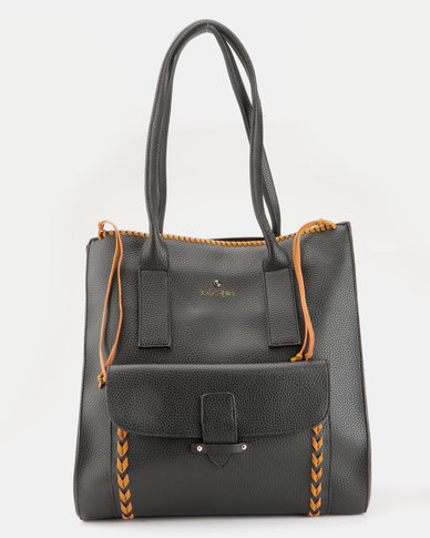 Blackcherry Bag Smart Tote Bag Black