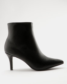 ZOOM Nicola Kitten Heel Ankle Boot Black