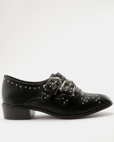 ZOOM Sam Double Buckle Western Ankle Bootie Black