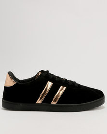 Soviet Sable PU Sneakers Black Mono/Rose Gold