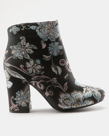 Madison Paisley Boots Black/Blue Print
