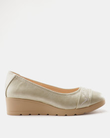 Butterfly Feet Tamsin Wedge Shoe Grey