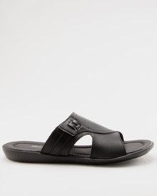 Bata Mens Slip On Sandals Black