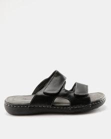 Bata Comfit Mens Slip On Sandal Black