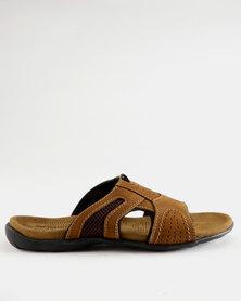 Weinbrenner Mens Slip On Sandals Brown