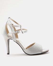 Marie Claire Ladies High Heel Sandals Grey