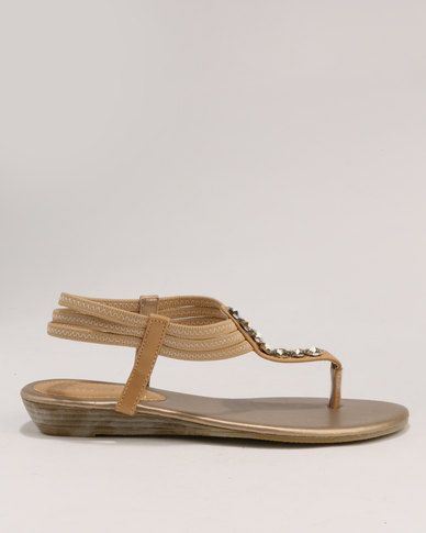 Ladies Sandals Bata Beige Back Flat Strap PN80wXnOk