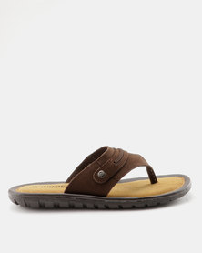 Weinbrenner Mens Thong Sandal Brown
