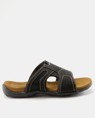 Weinbrenner Mens Slip On Sandal Black
