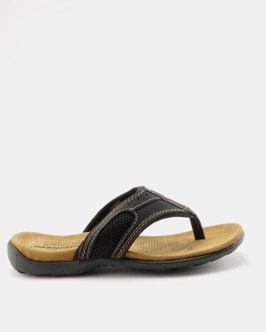 Weinbrenner Mens Thong Sandal Black