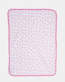 Kapas Baby Delicious Monster Receiving Blanket Pink