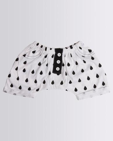 Kapas Baby Rain Drop Shorts Black