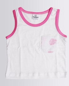 Kapas Baby Delicious Monster Vest Pink