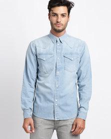 Bellfield Denim Shirt Blue