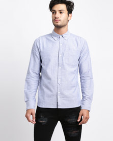Bellfield Basic Oxford Shirt Blue