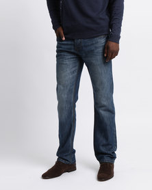 Smith & Jones FURIO Straight Jean Stone Wash With Belt