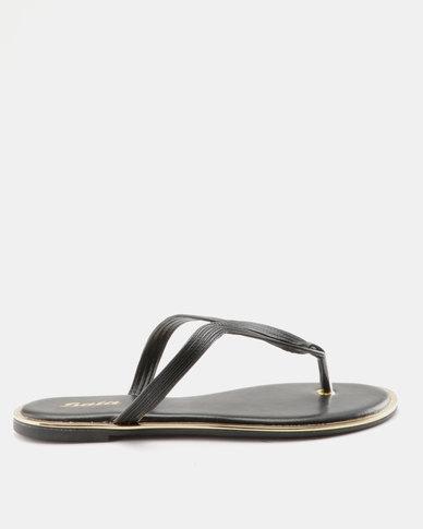 45db99a8c Bata Ladies Flat Thong Sandal Black