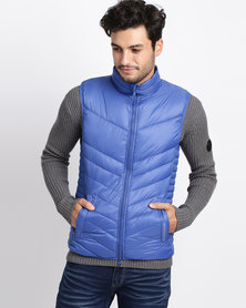Crosshatch Diagonless Chevron Gilet Soladite Blue