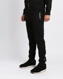 Crosshatch Tarou Printed Zip Jogger Black
