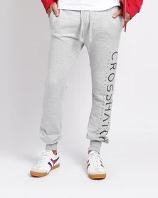 Crosshatch Shacka Leg Print Jogger Grey